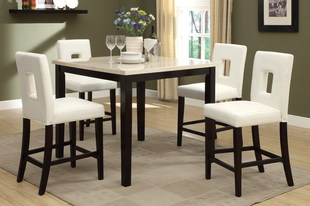 Dining Table Set F F BBs Furniture Store - Marble counter high dining table