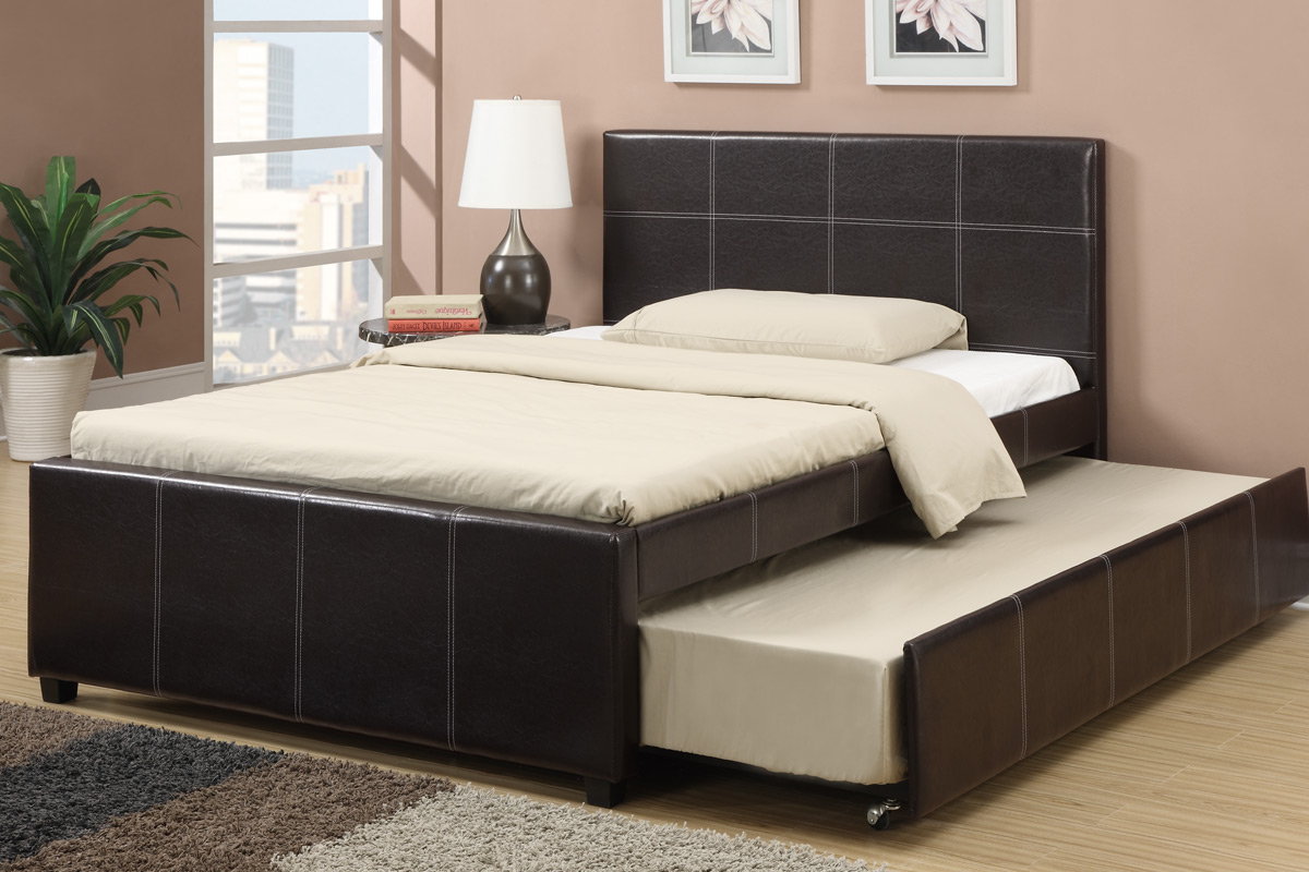 Faux Leather Bed Frame With Mattress