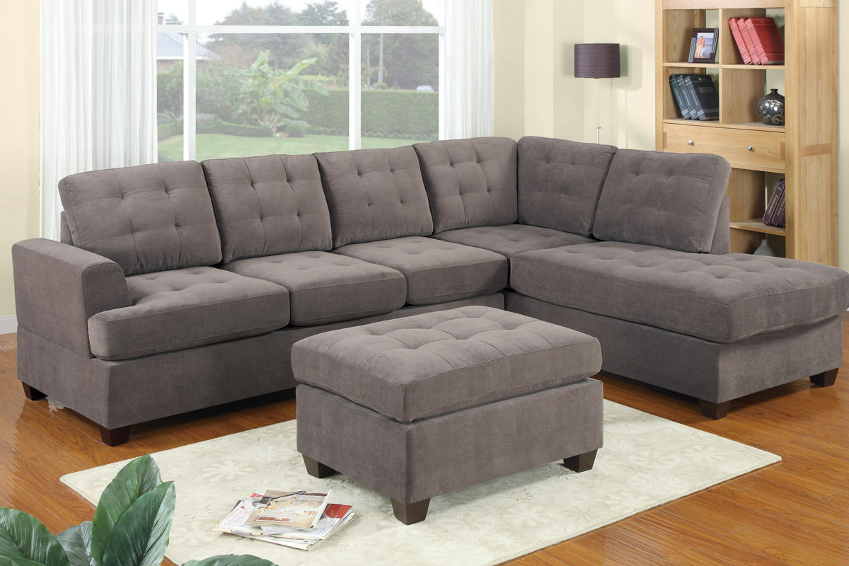 f7137 : light gray sectional sofa - Sectionals, Sofas & Couches