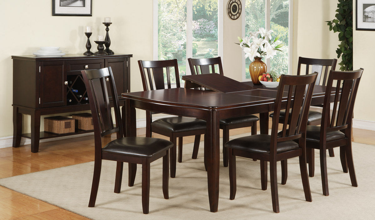 Dining table set f2179 f1285 bb 39 s furniture store for Dining room table with 6 chairs