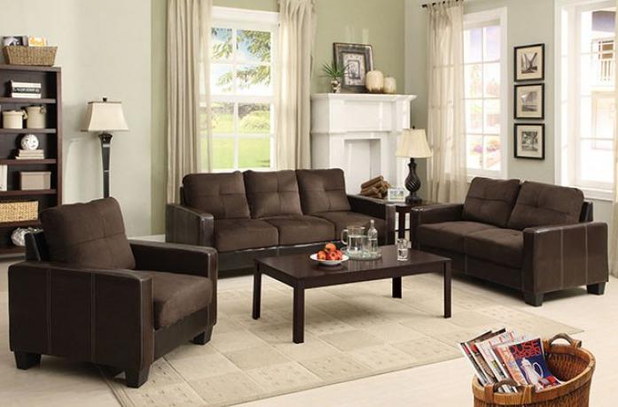 Miraculous 3Pc Sofa Love Seat Chair Cm6598Dk Theyellowbook Wood Chair Design Ideas Theyellowbookinfo