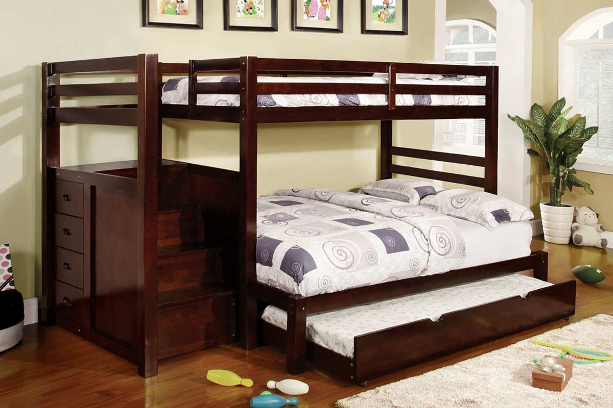 Twin full bunk bed cm bk966f bb 39 s furniture store - Bed cm ...