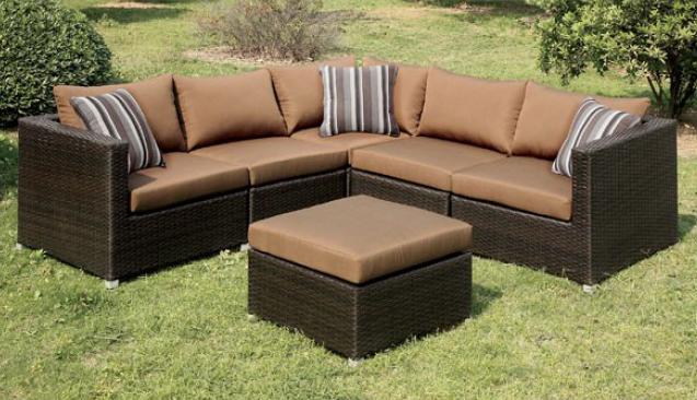 Outdoor sectional sofa set cm os1821br bb 39 s furniture for Sofa exterior 120 cm