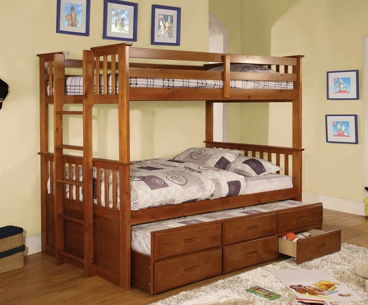 Bunk Bed Trundle 3 Mattresses Bb S