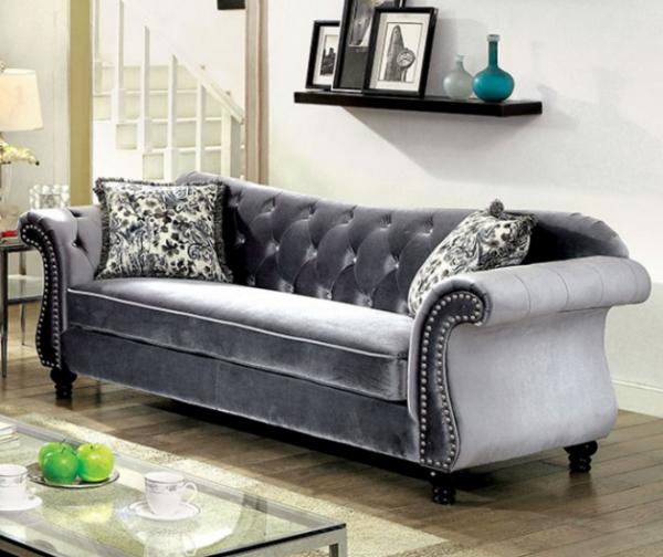 3PC Sofa, Love Seat & Chair (CM6159GY)