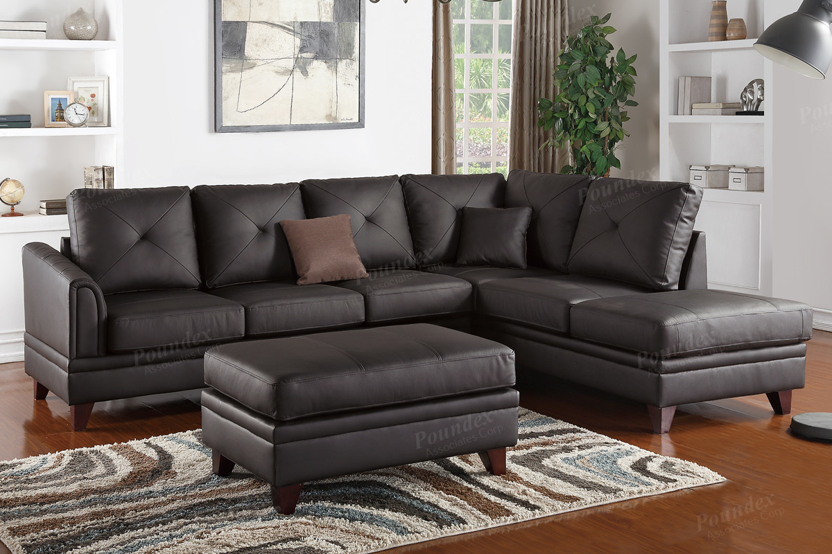 Genuine Leather Sectional F6874 Bb S Furniture Store