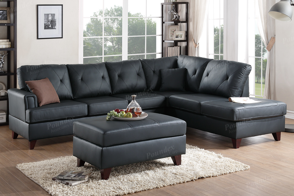 Home/Living Room/Sectional Sofa. Genuine Leather ...