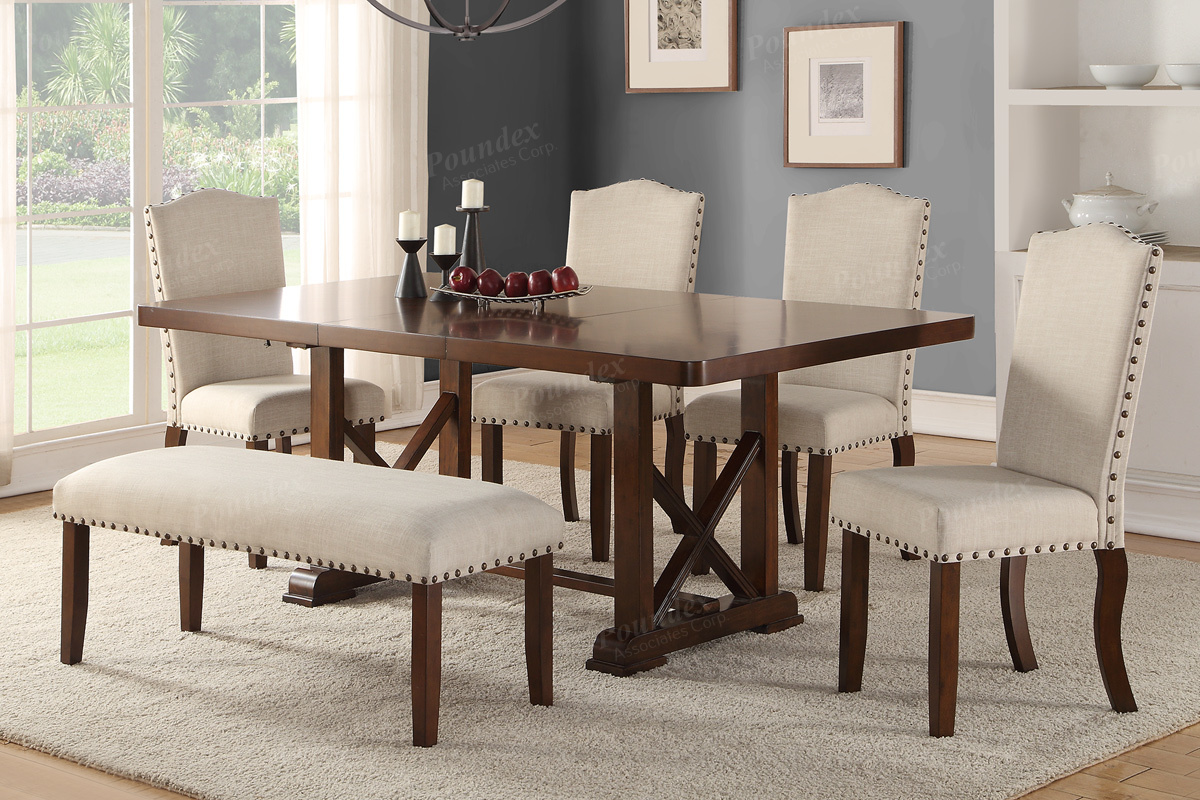 Dining Table w/ 4 Chairs and Bench (F2398 / F1548) | BB\'s Furniture ...