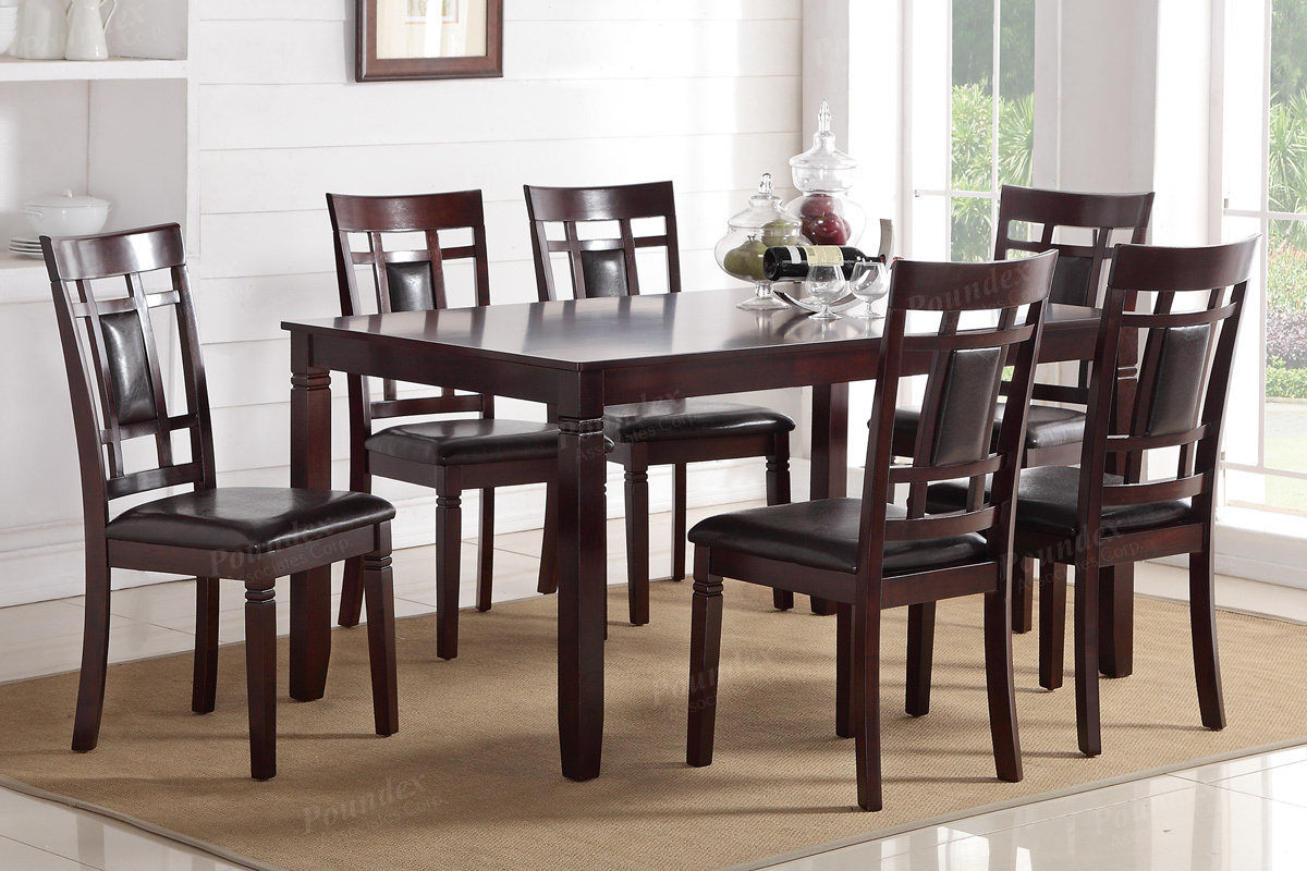 7PC Dining Table Set (F2294) | BB\'s Furniture Store