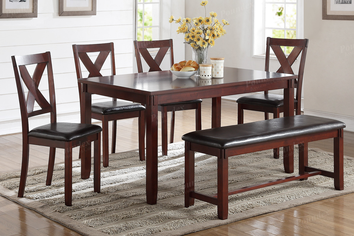 Dining Table W 4 Chairs Bench F2298