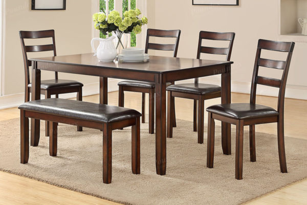 Awesome Dining Table 4 Chairs Bench F2547 Creativecarmelina Interior Chair Design Creativecarmelinacom