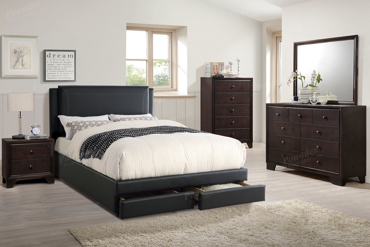 Bed Stand Black Particle Board Assembly