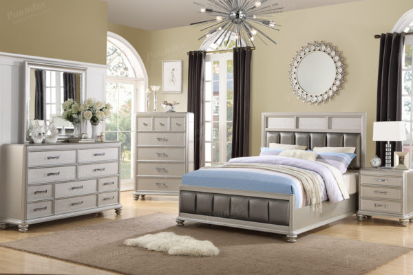4PC King Bed Set (F9356)