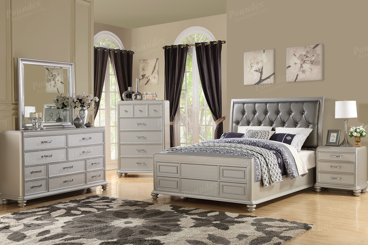 4PC King Bed Set (F9357)