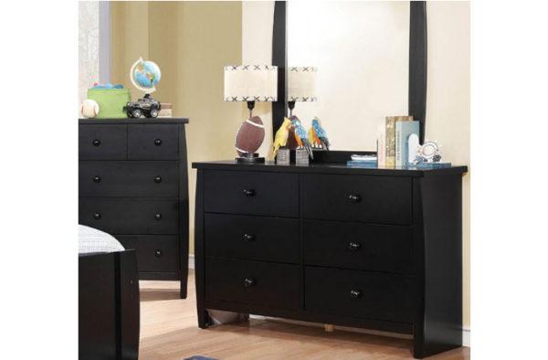 Black Dresser with Mirror