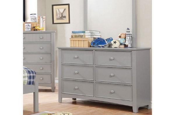 Grey Dresser with Mirror