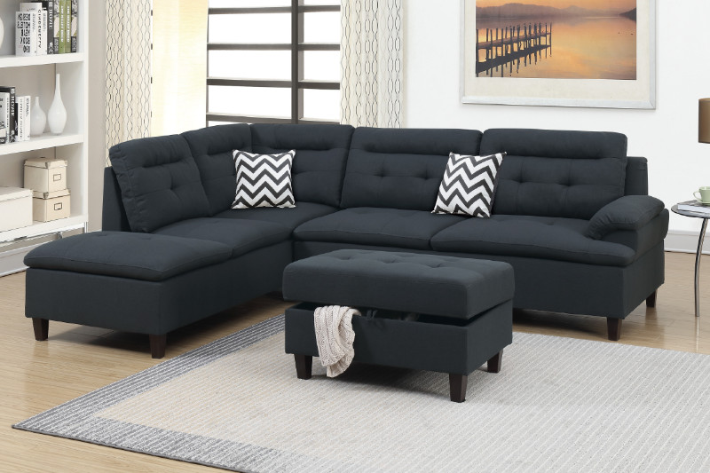 Sectional Sofa + Ottoman (F6588)